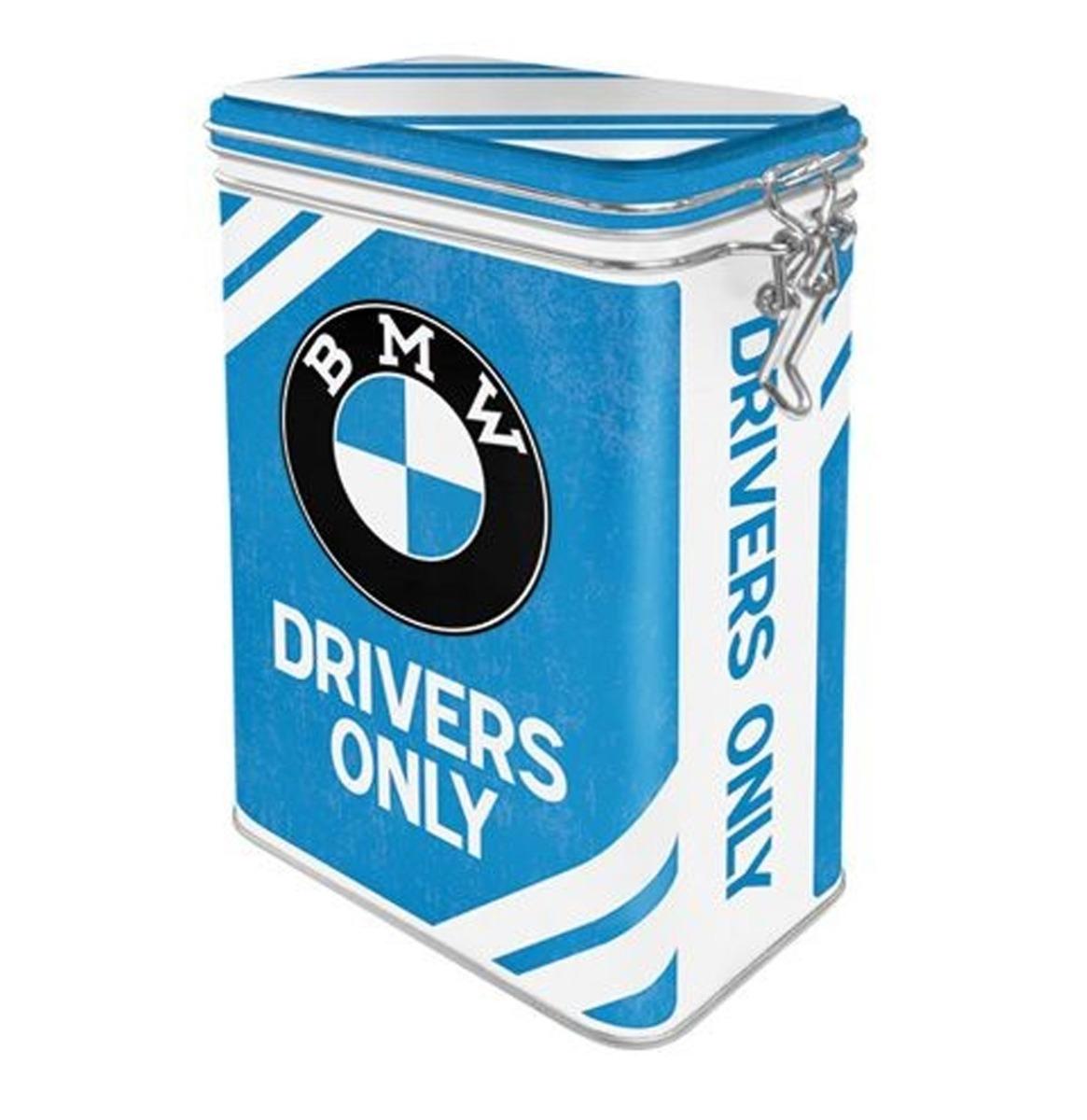 BMW Drivers Only Tinnen Blik Met Klipsluiting