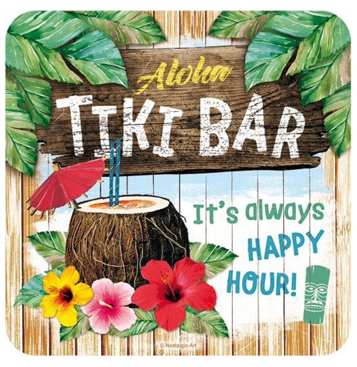 Aloha Tiki Bar Metalen Onderzetters Set (5)