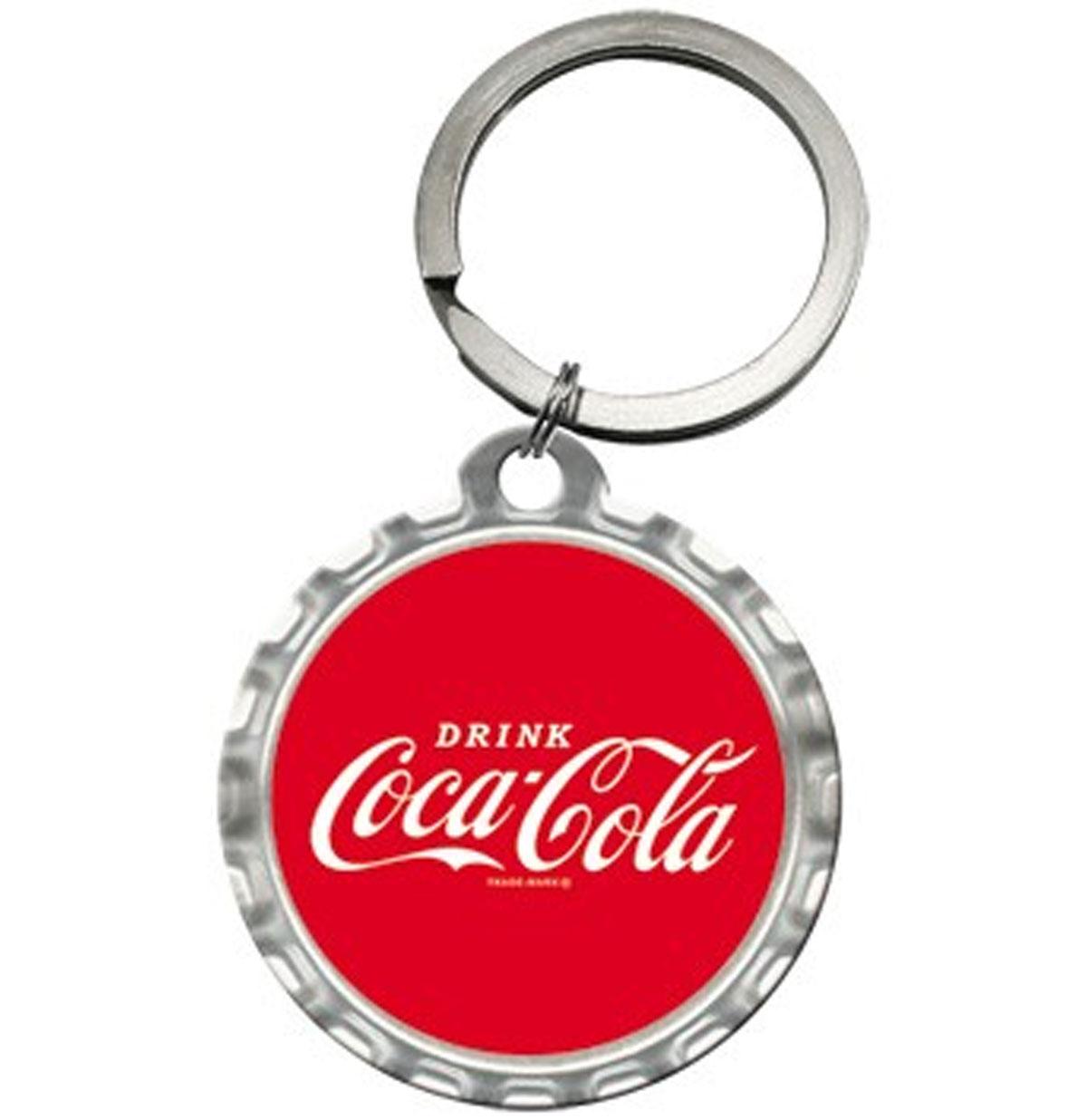 Ronde Coca-Cola Dop Sleutelhanger