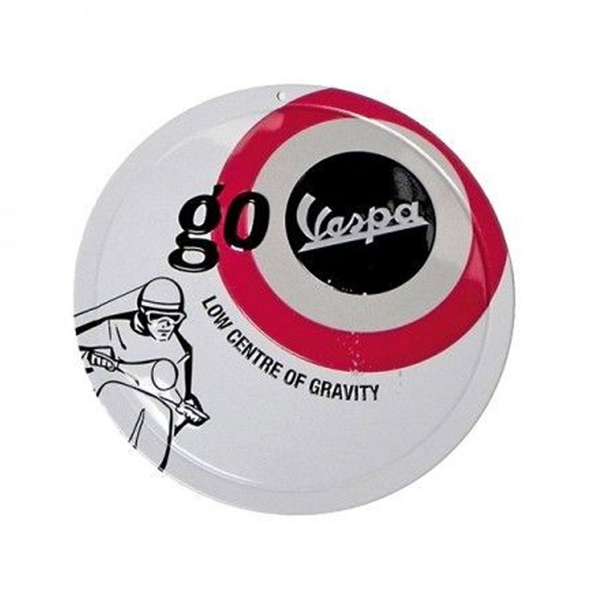 Go Vespa Low Centre Of Gravity Rond Metalen Bord 15 cm ø
