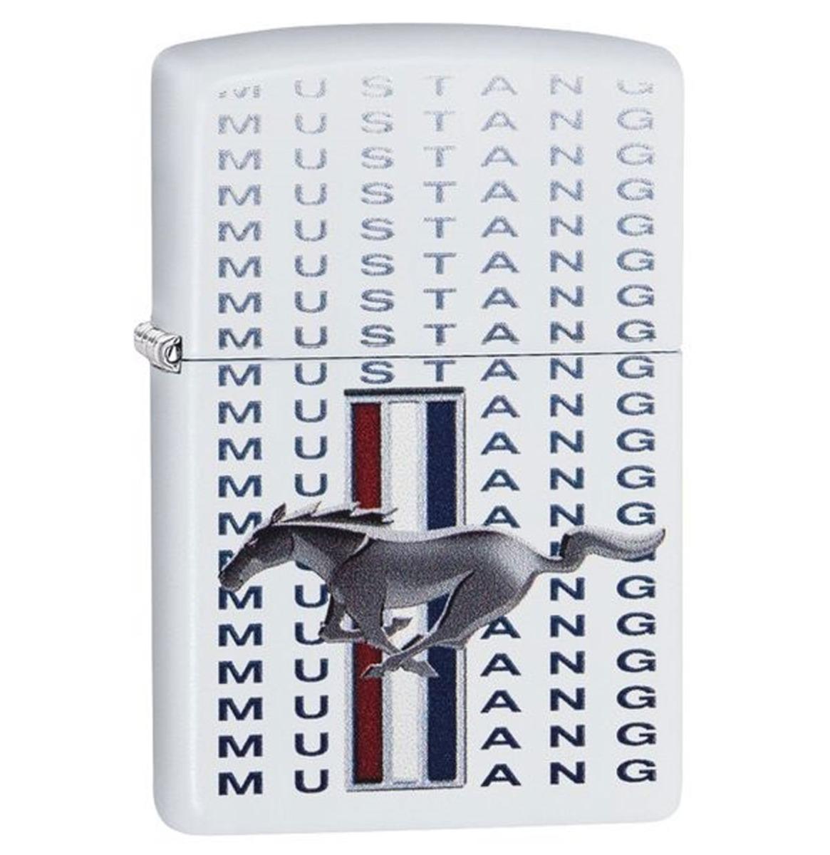 Zippo Aansteker Ford Mustang Wit