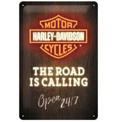 Harley Davidson Motorcycles Deco Metal Tin Sign Logo Shield Advertising 15x20