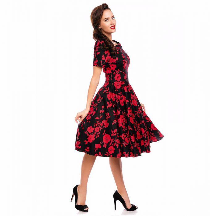 Retro Swing Dress,Floral Swing Dress,Swing Dress,Swing Dress,swing dress,red floral dress,swing dress,red and black dress,swing dress,red floral dress,