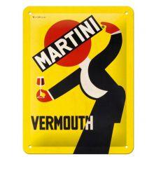 L/'aperitivo Racing Stripes 7 x 28 in metallo Termometro in Latta Martini