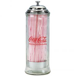 Coca-Cola Galvanized Salt and Pepper Shaker Set Caddy Red  BRAND NEW