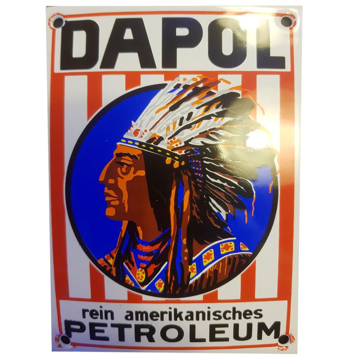 Dapol Rein Amerikanisches Petroleum Emaille Bord - 14 x 11 cm