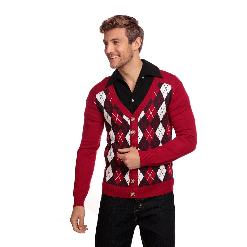 Dave Diamond Cardigan Rood