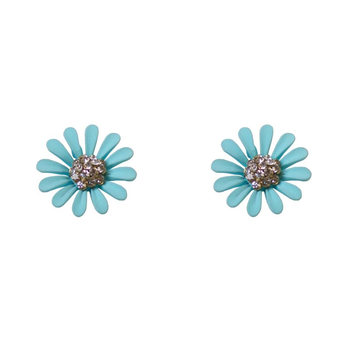 Dazzling Daisy Stud Earrings Blauw