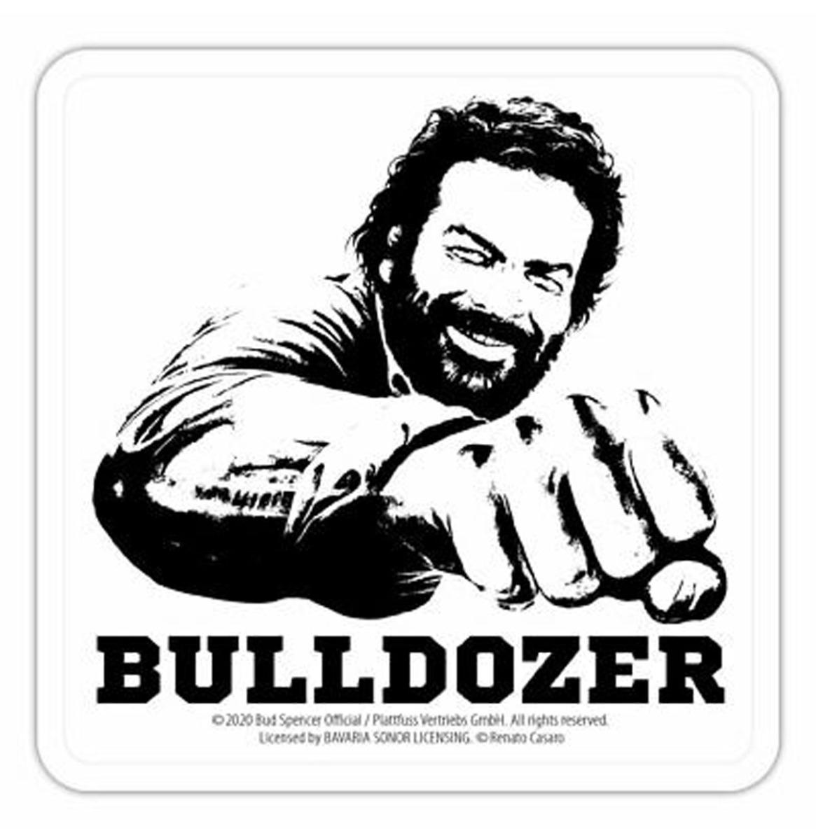 Bud Spencer Bulldozer Metalen Onderzetters - Set Van 5