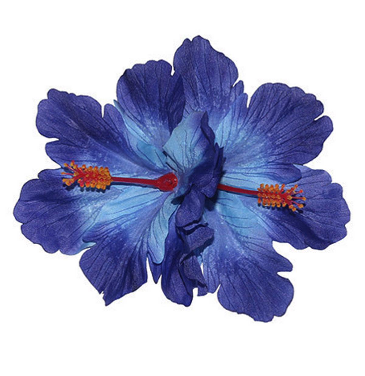 Debra Double Blue Hibiscus Hair Flower