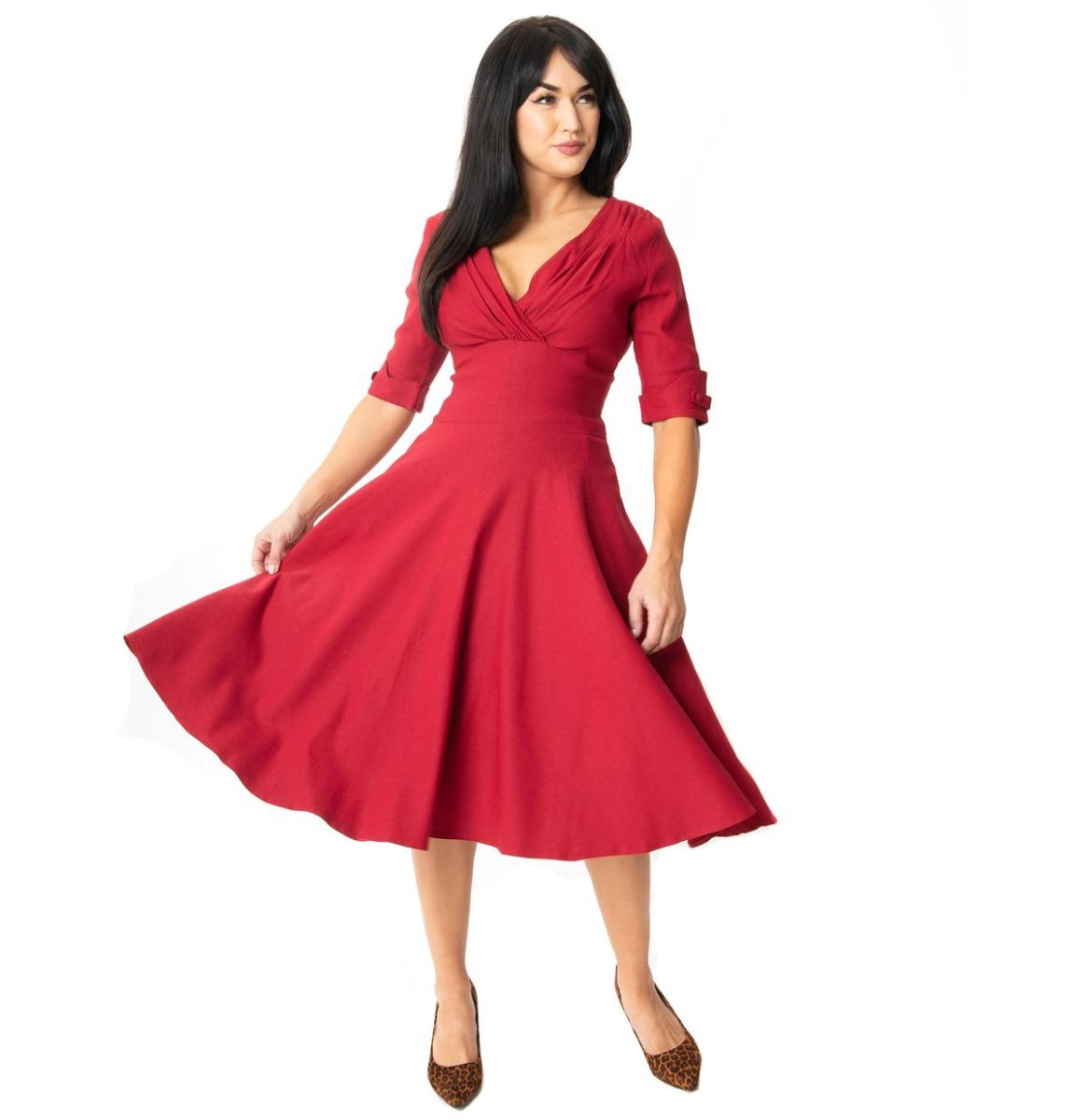 fiftiesstore Delores Dress Merlot