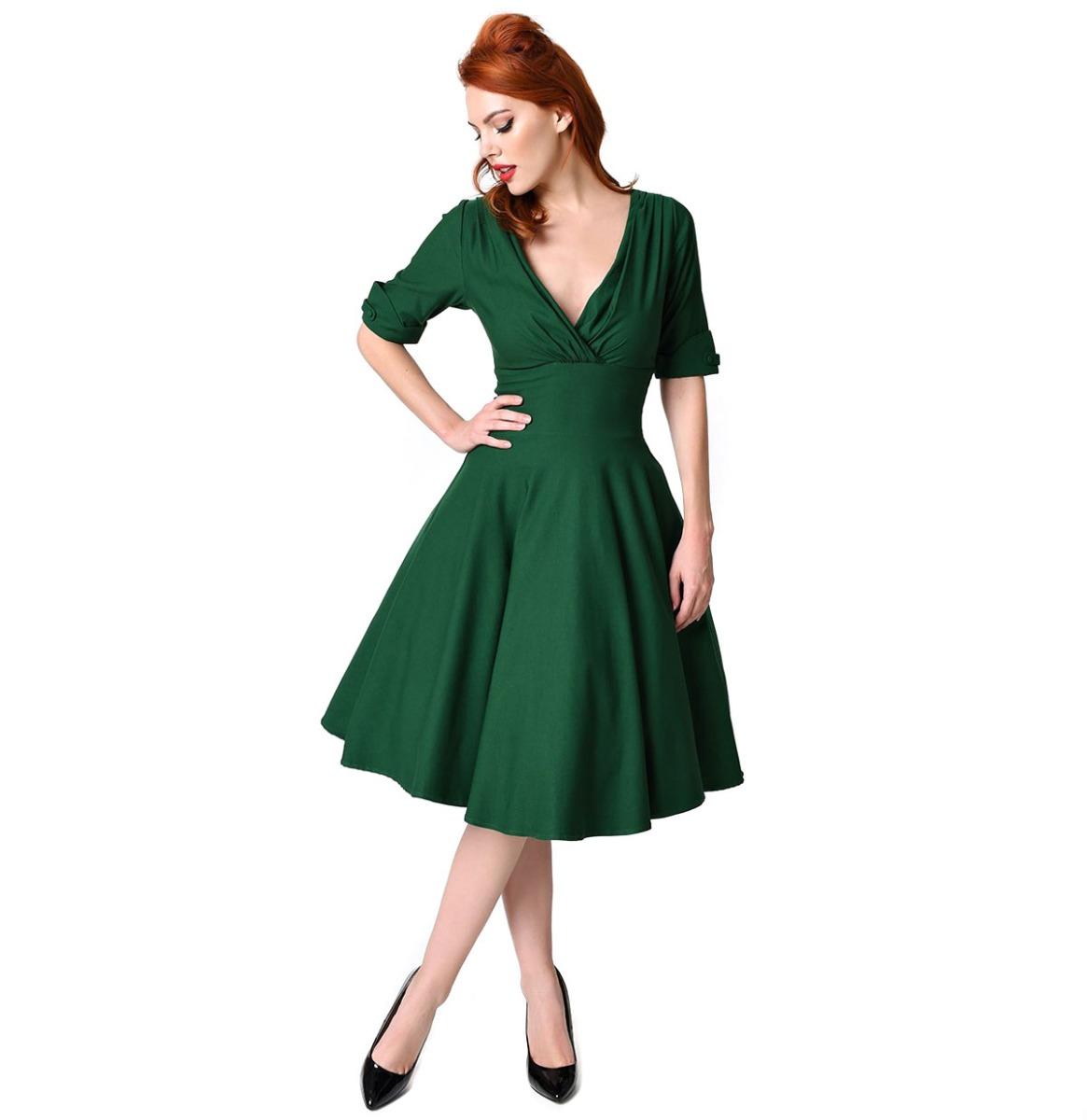Delores Swing Dress Green