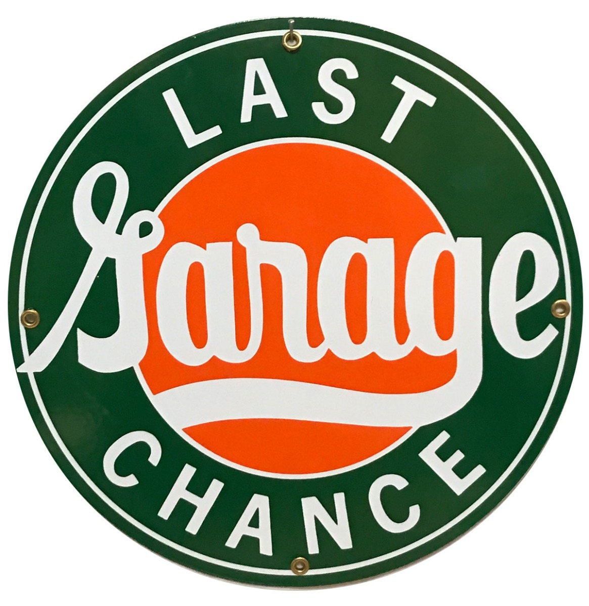 Last Chance Garage Emaille Bord 12 - 30 cm