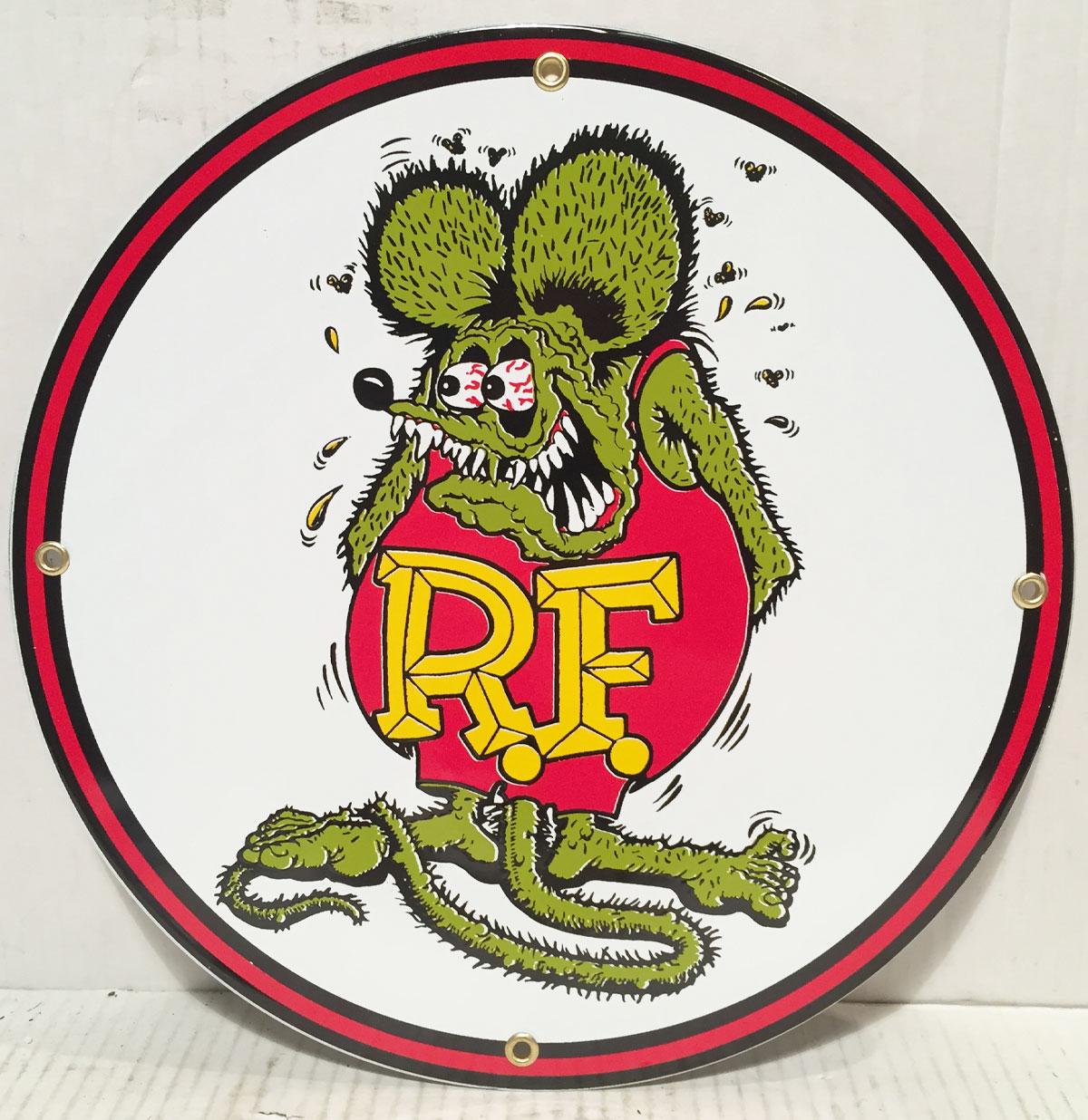 Rat Fink Emaille Logo Bord 12 - 30 cm