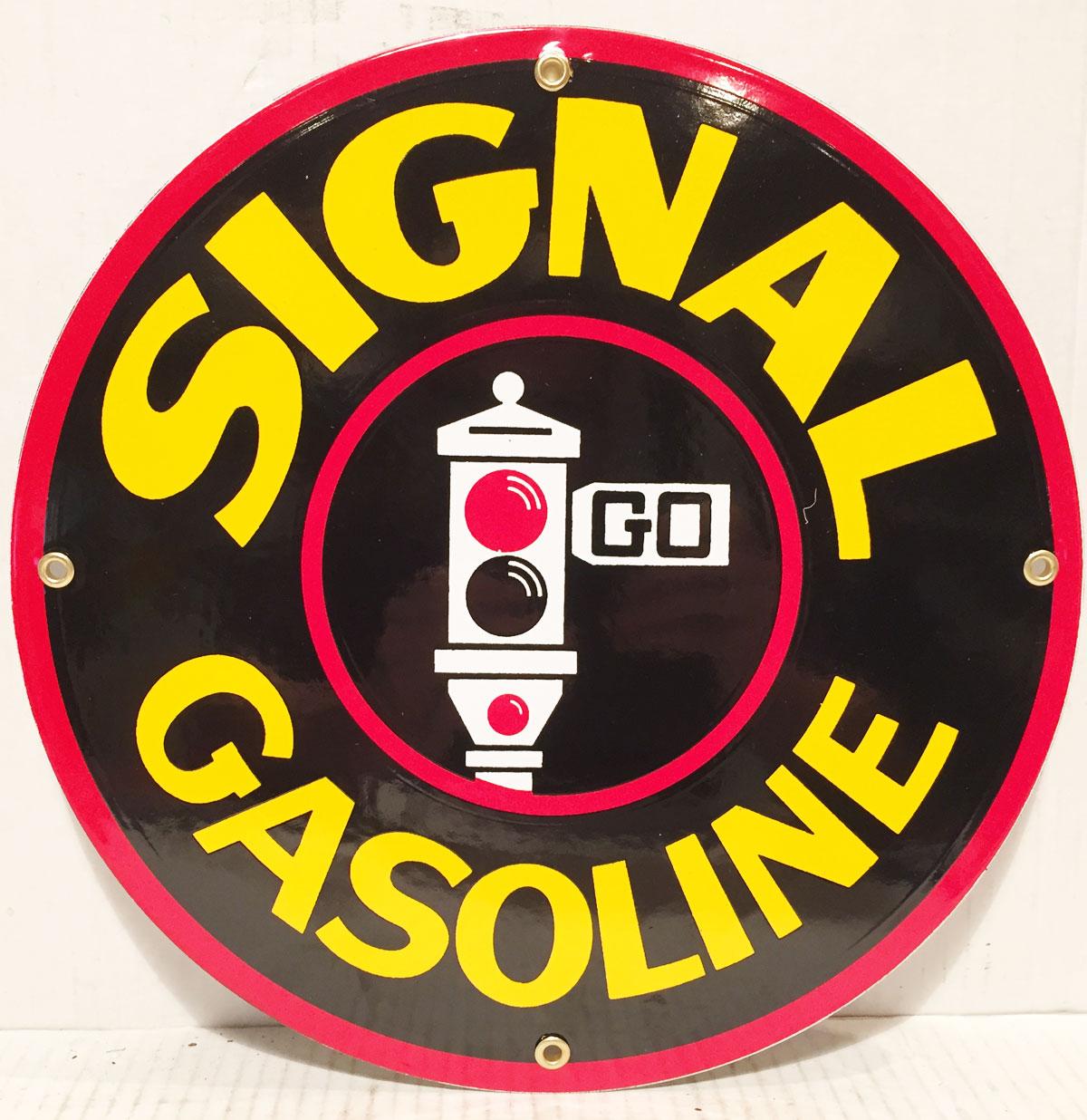 Signal Gasoline Emaille Bord 12 - 30 cm