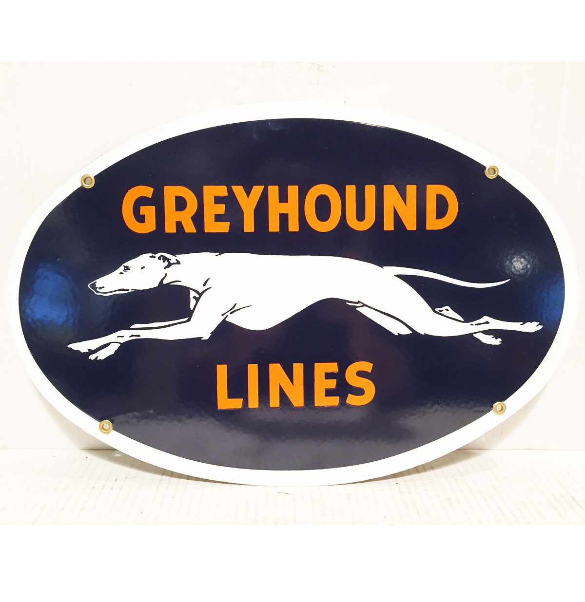 Greyhound Lines Emaille Bord Ovaal