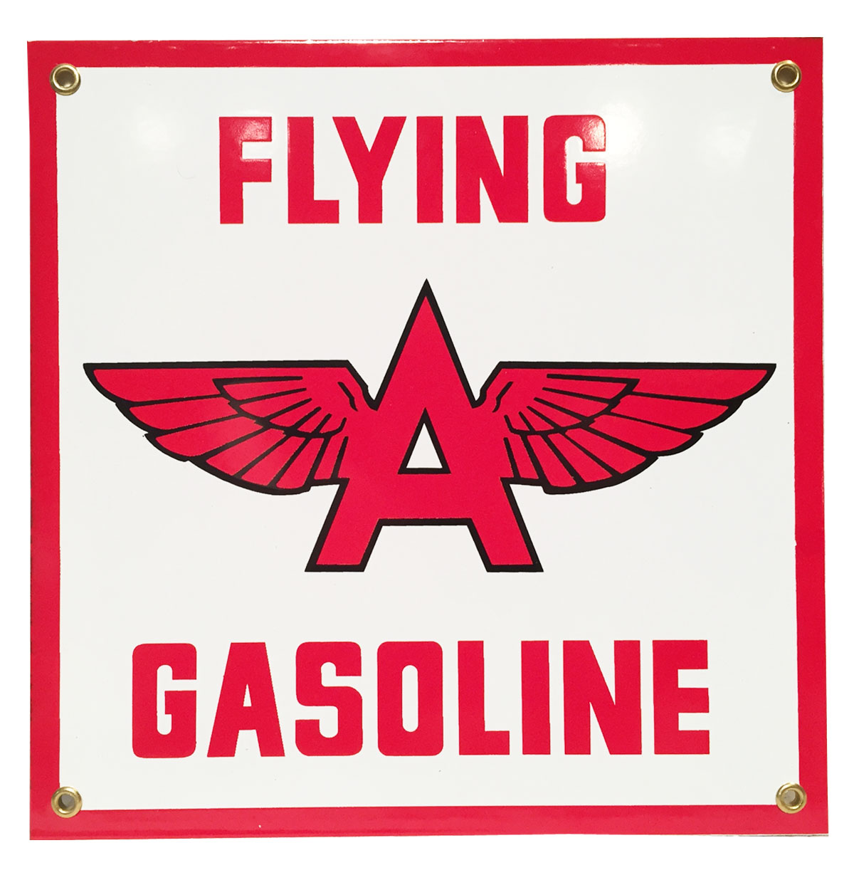 Flying A Gasoline Emaille Bord