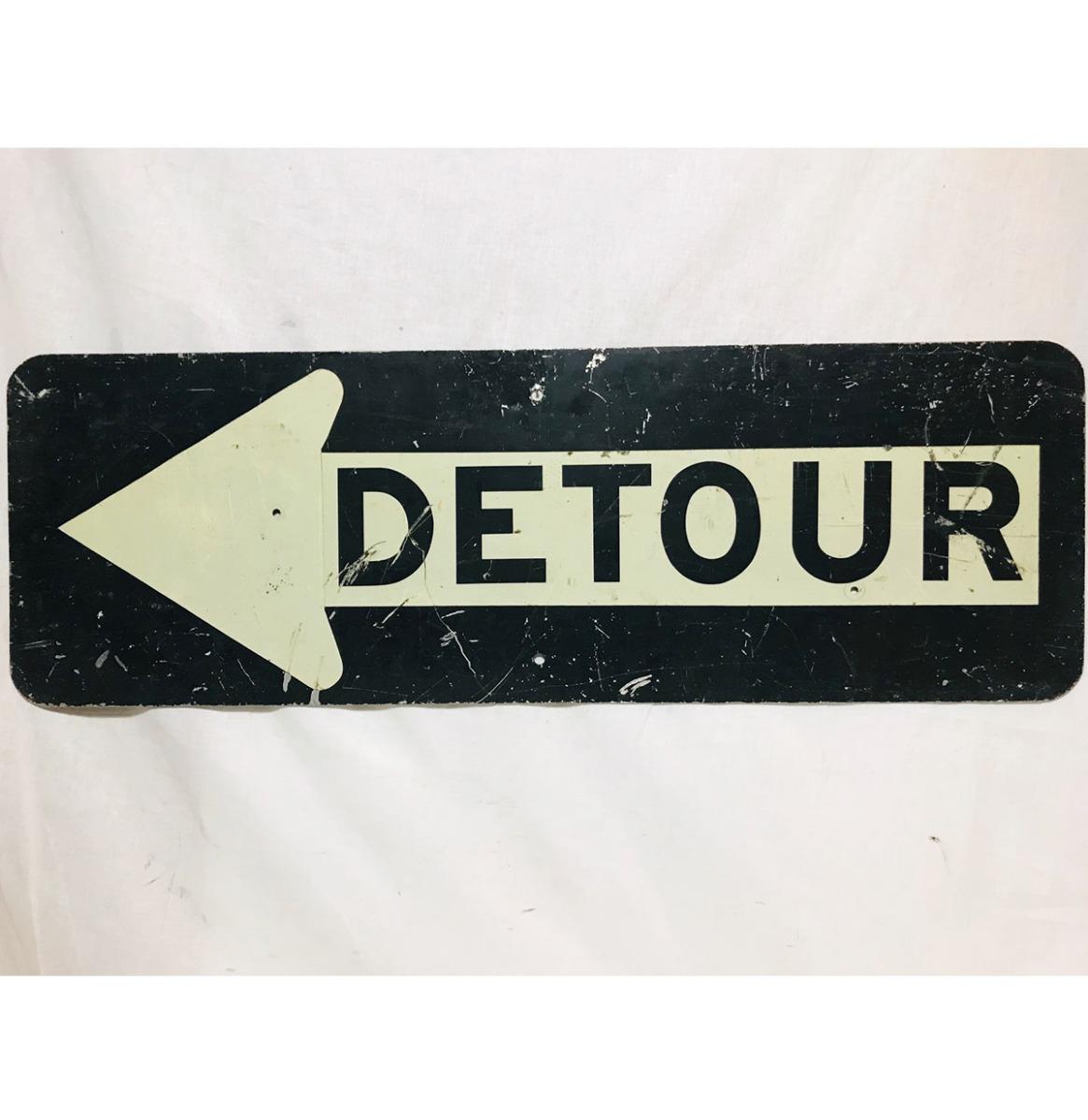 Detour Straatbord - Origineel - Medium