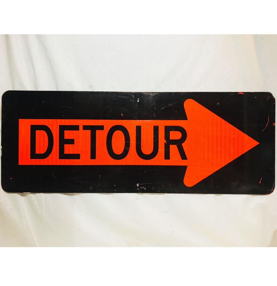 Detour Straatbord - Origineel - Large