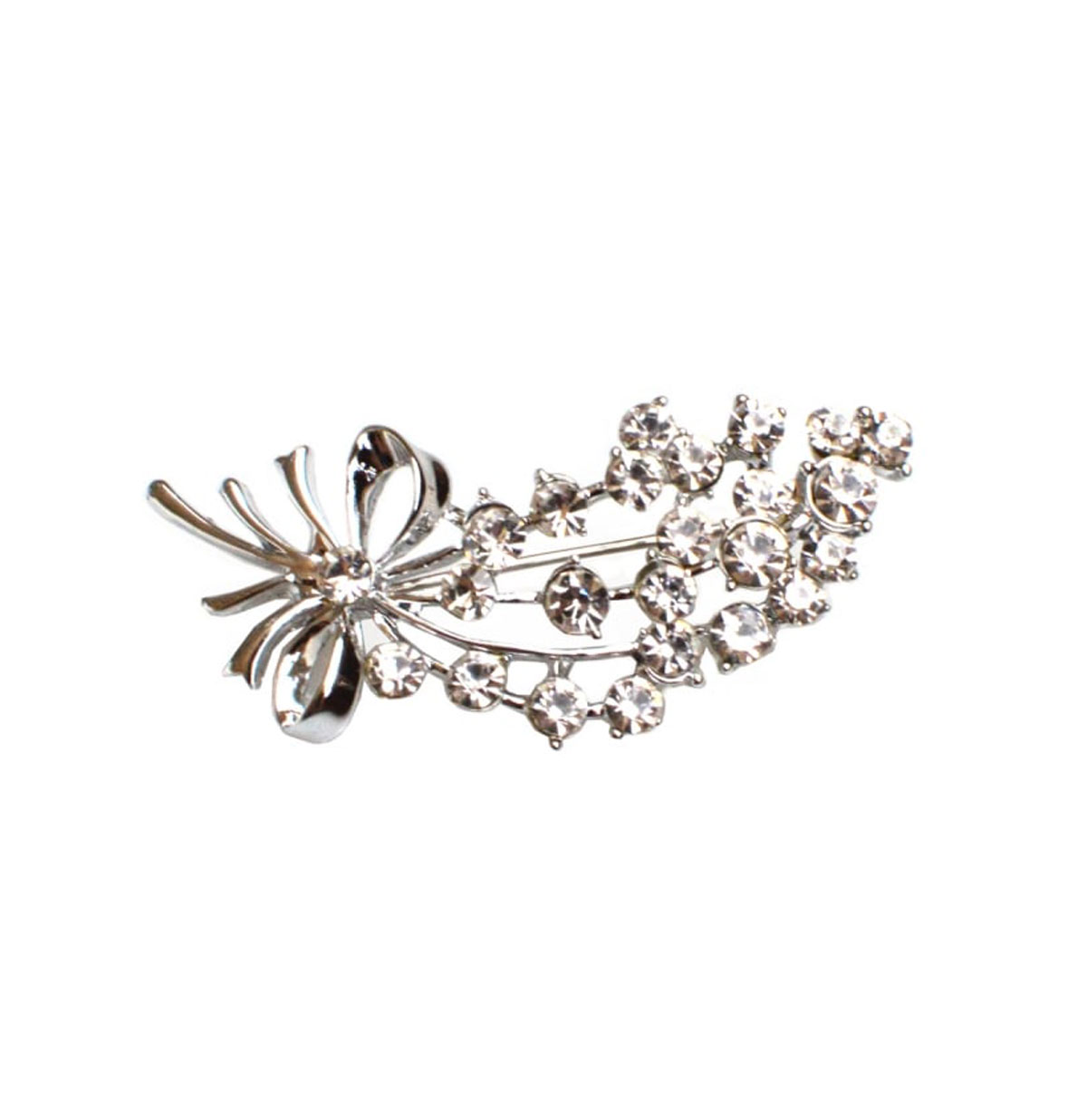 Diamante Bouquet Brooch Zilver