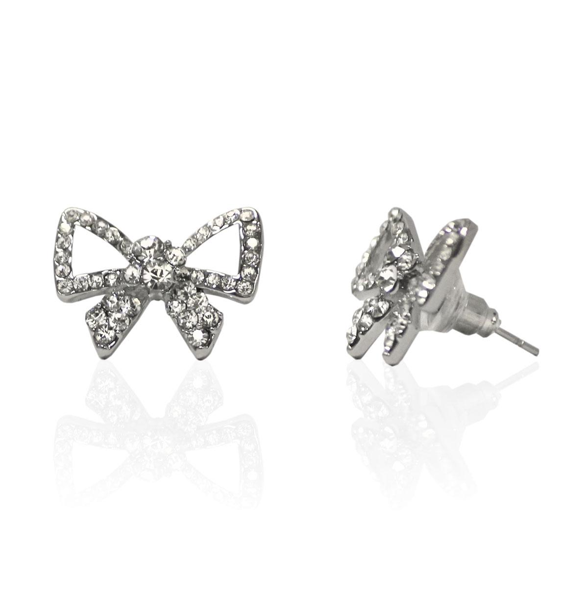 Diamante Bow Studs