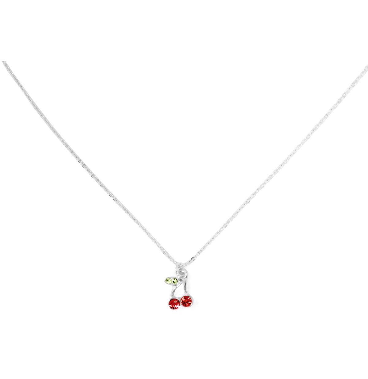 Diamante Cherry Halsketting