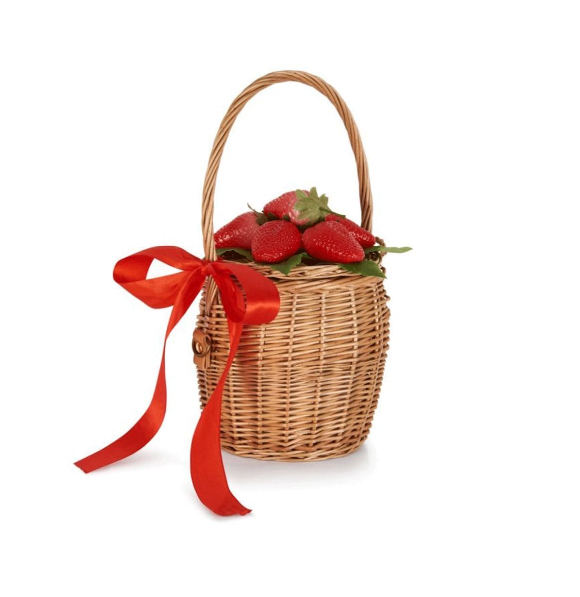 Dina Strawberry Basket Bag