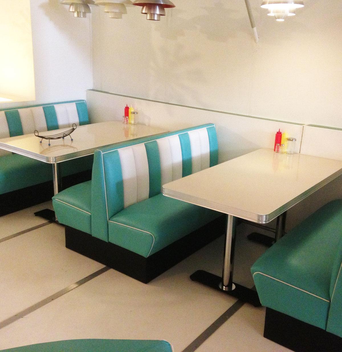 Bel-Air Retro Diner Set Turquoise