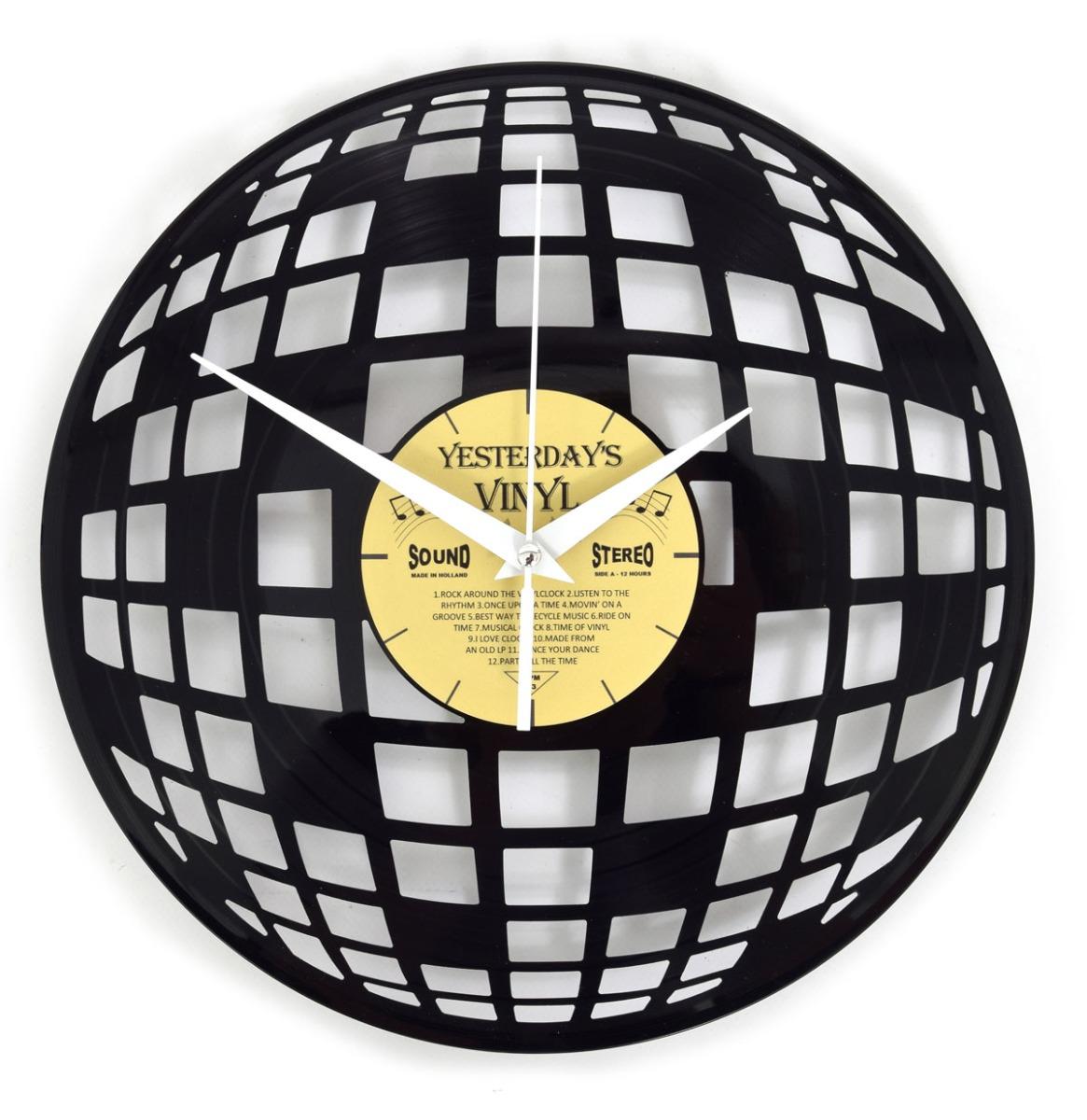Vinyl Klok Discobal - Gemaakt Van Een Gerecyclede Plaat