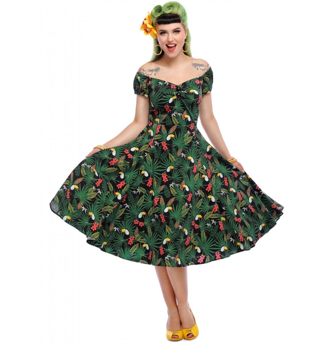 Collectif Dolores Tropicalia Doll Dress