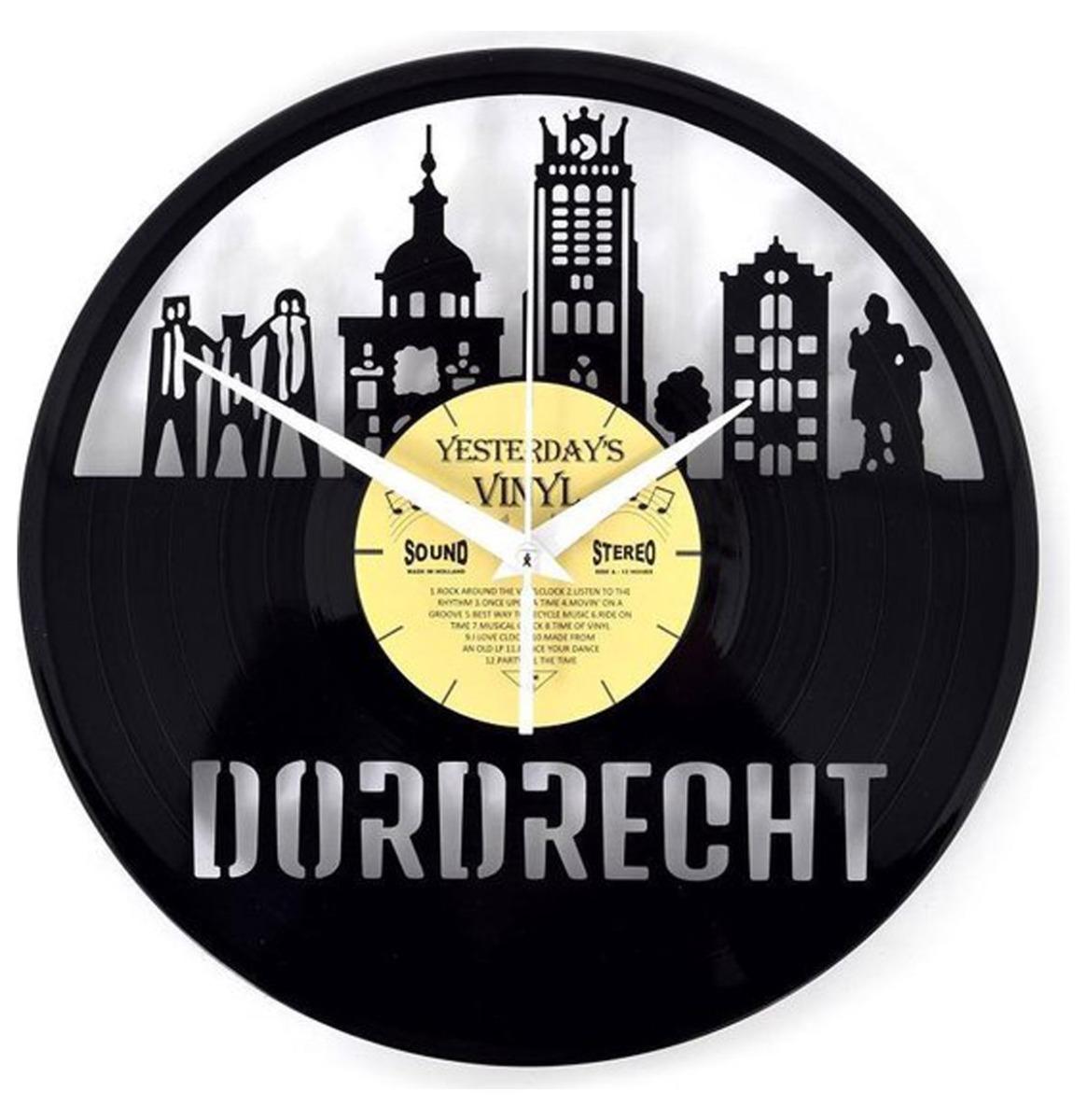 Vinyl Klok Dordrecht - Gemaakt Van Een Gerecyclede Plaat