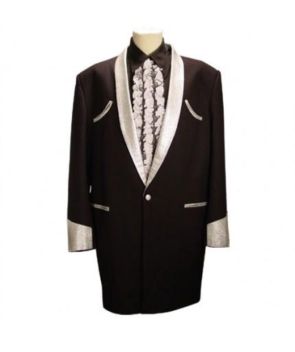 Drape Jacket Zwart - Zilver Lurex