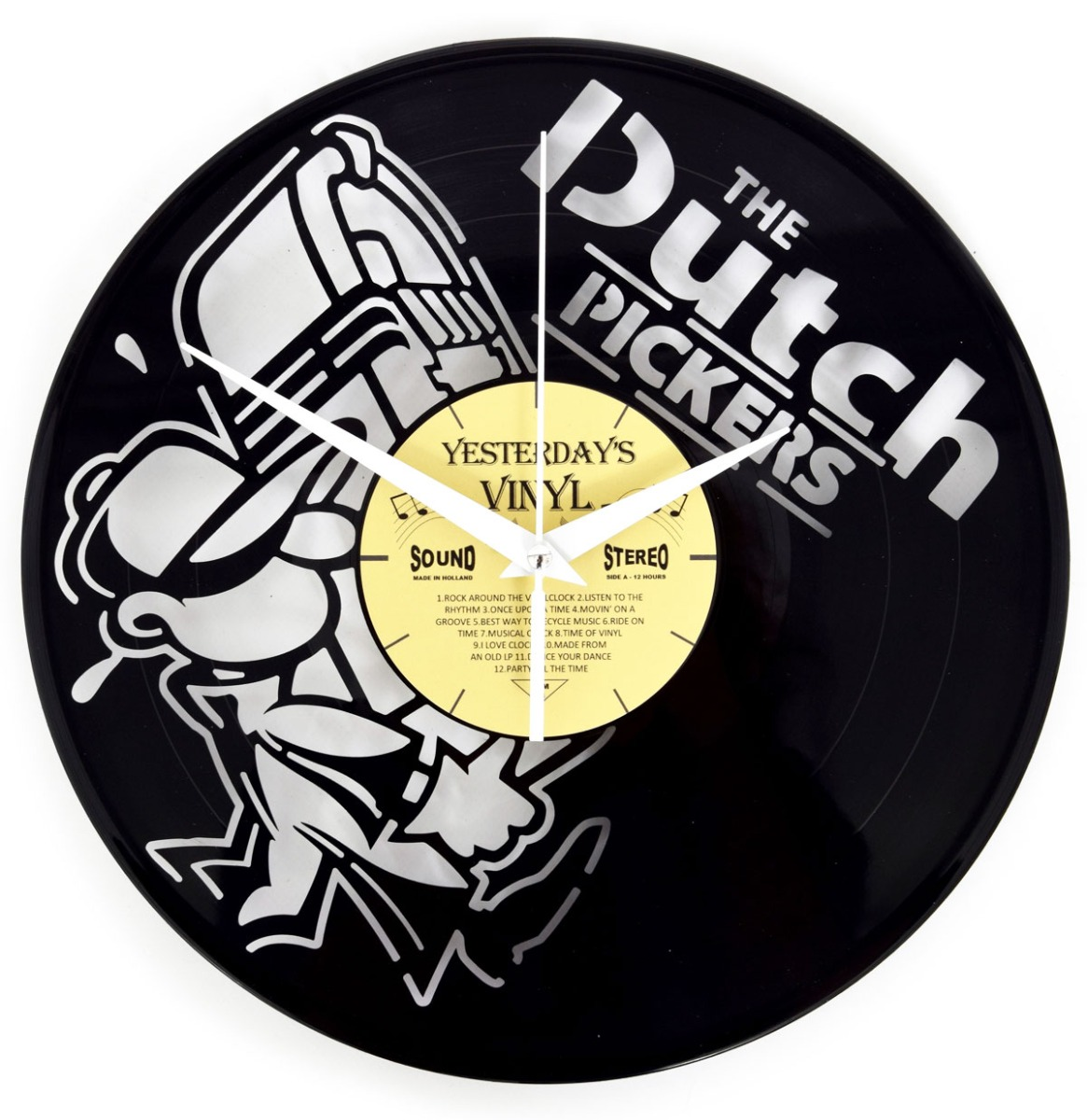 Vinyl Klok Dutch Pickers - Gemaakt Van Een Gerecyclede Plaat