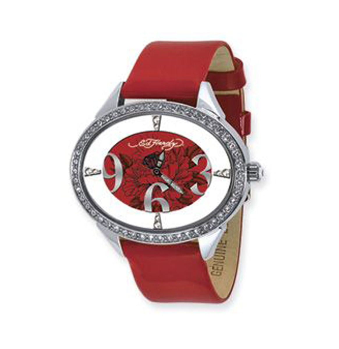 Ed Hardy Rood Horloge