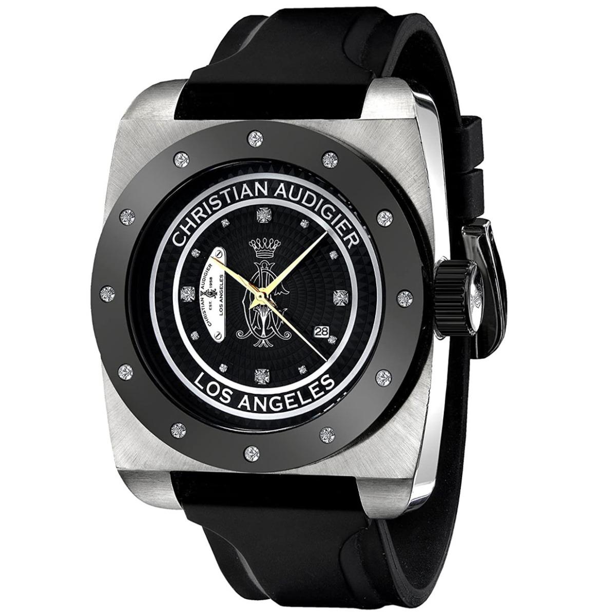 Christian Audigier Unisex FOR-205 Fortress CA Divine Vine Stainless Steel Horloge