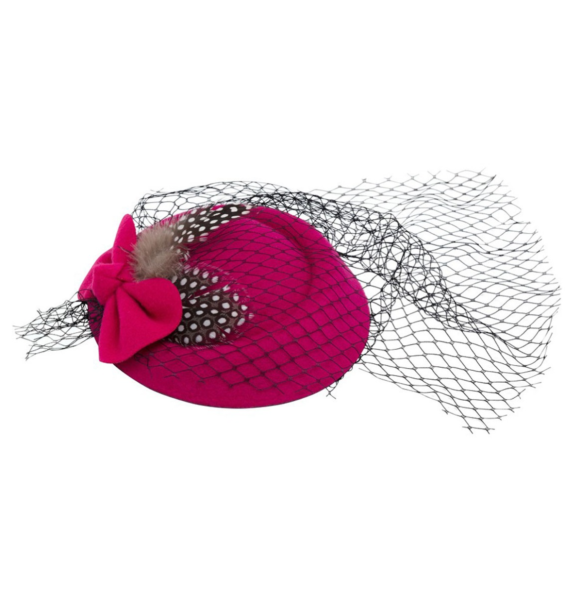 Elegant Fascinator Feather - Bow Roze