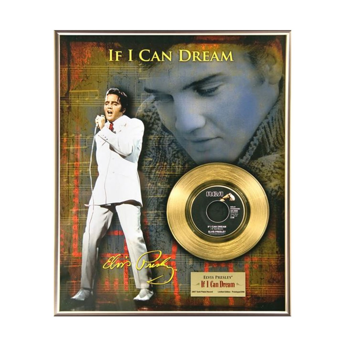 Elvis Presley - If I Can Dream 24 Karaats Gouden Plaat (45)