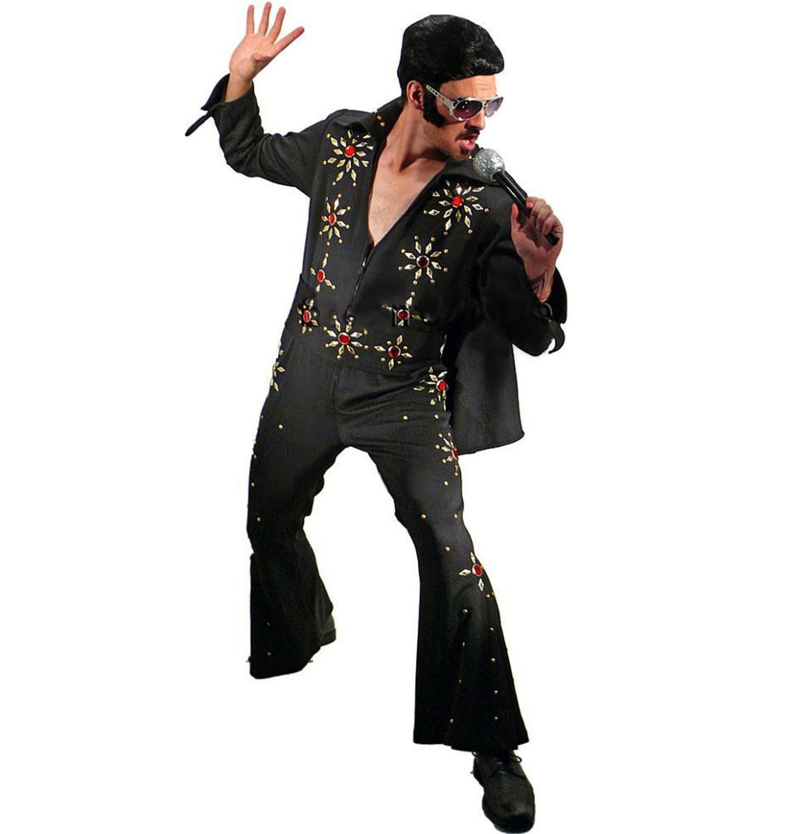Elvis Jumpsuit Zwart