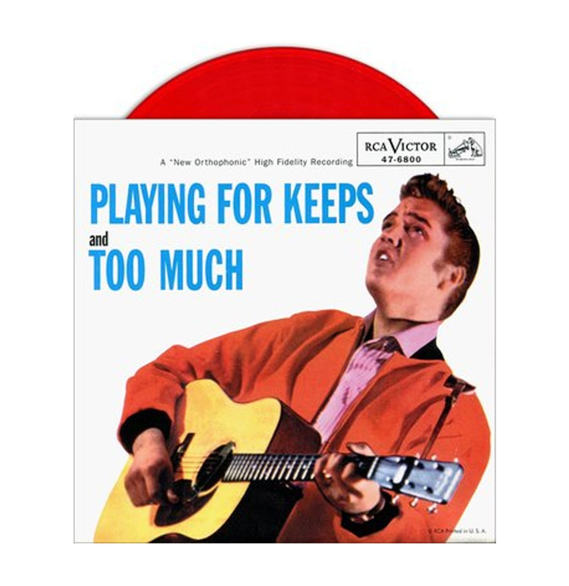 Single: Elvis Presley - Playing For Keeps / Too Much (Red Vinyl) - Picture Sleeve