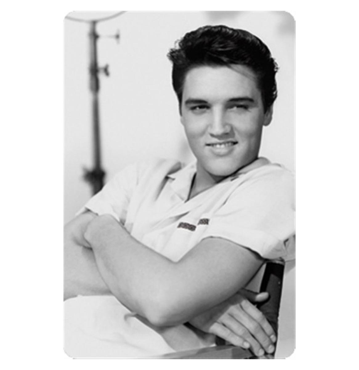 Fiftiesstore Elvis Presley Metalen Bord 20 x 30 cm