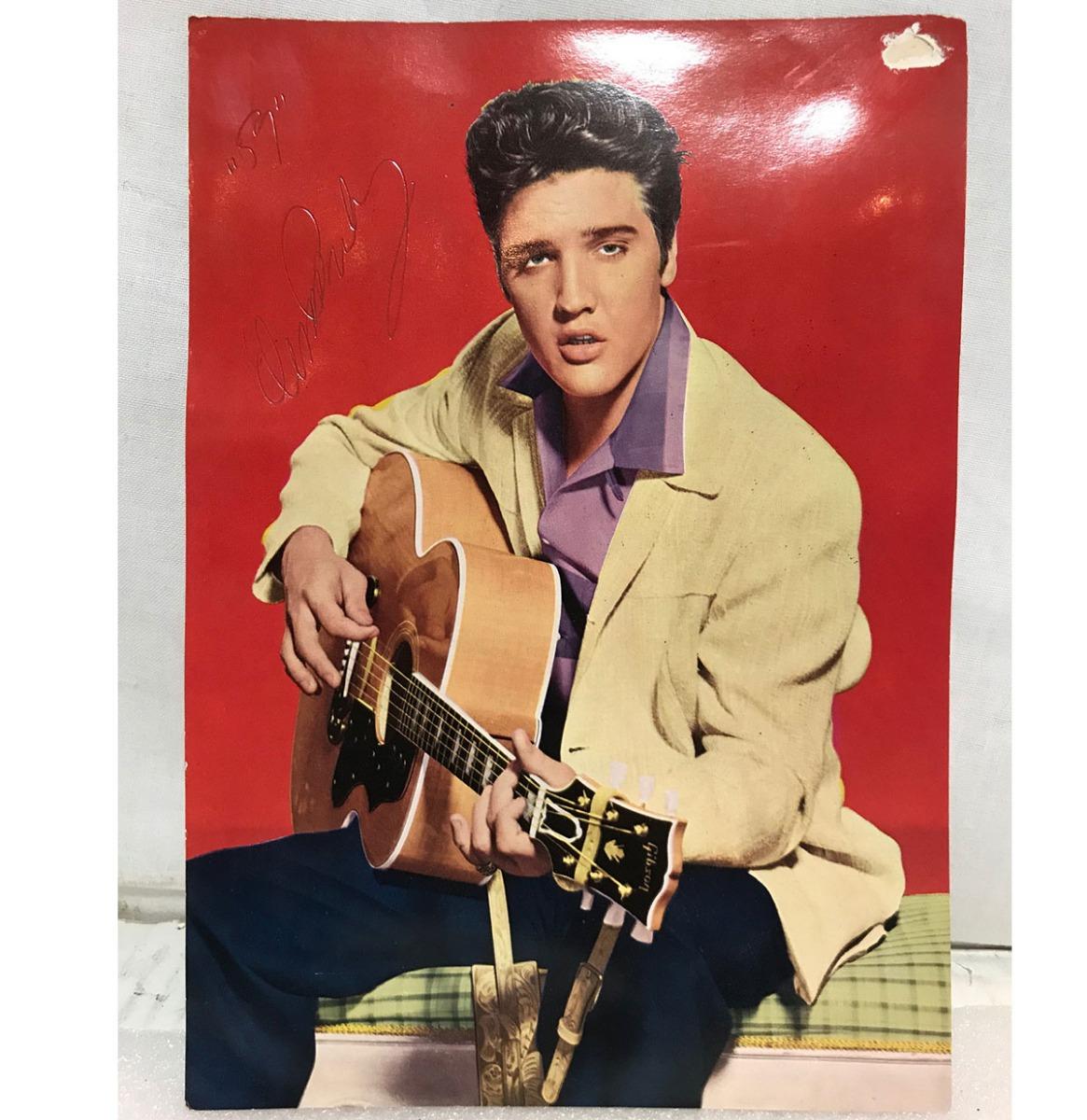 Elvis Presley Postkaart Gesigneerd Voor- En Achterkant - Origineel