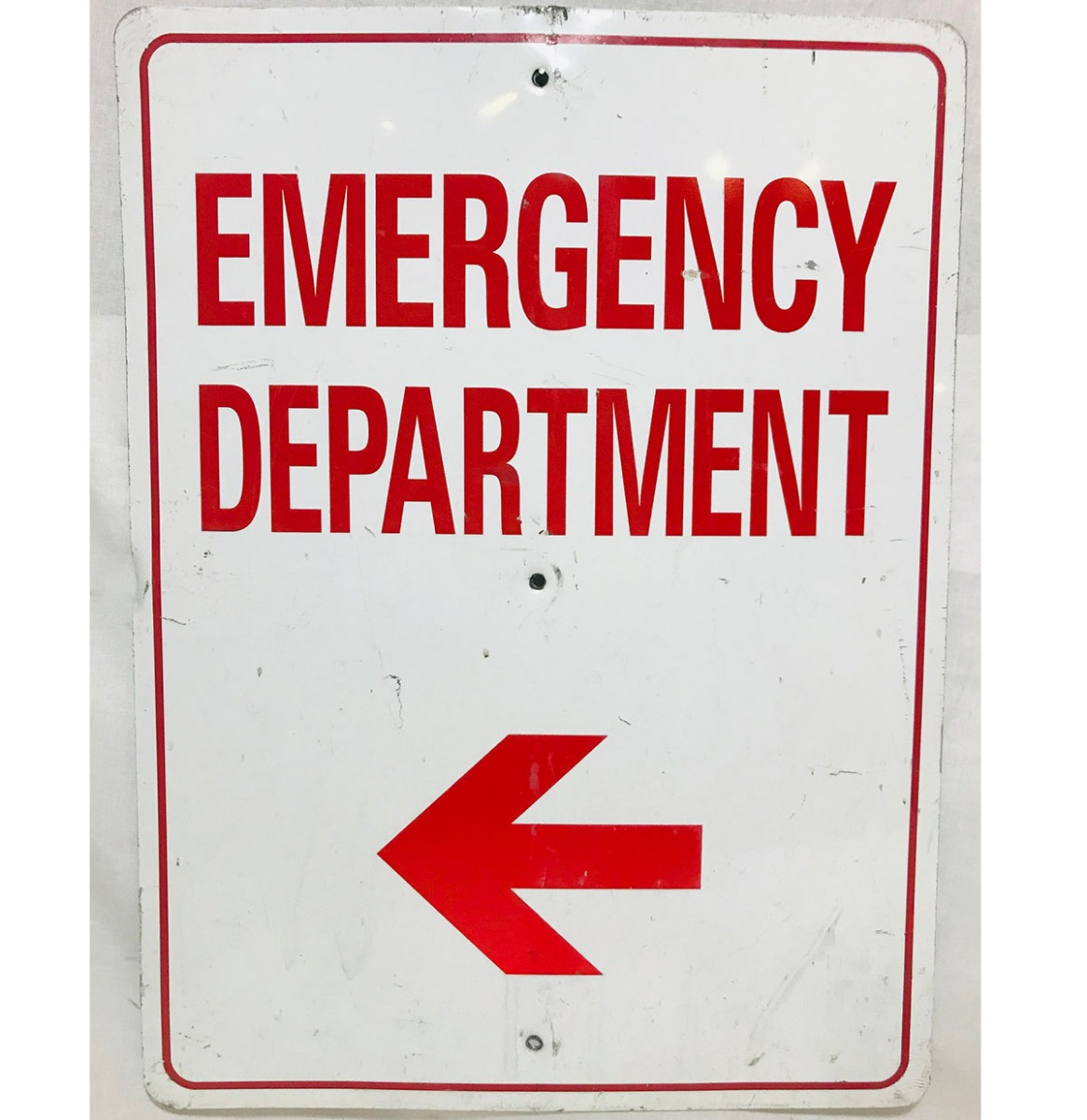 Emergency Department Straatbord - Origineel