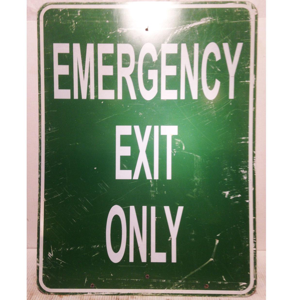 Emergency Exit Only Straatbord - Origineel
