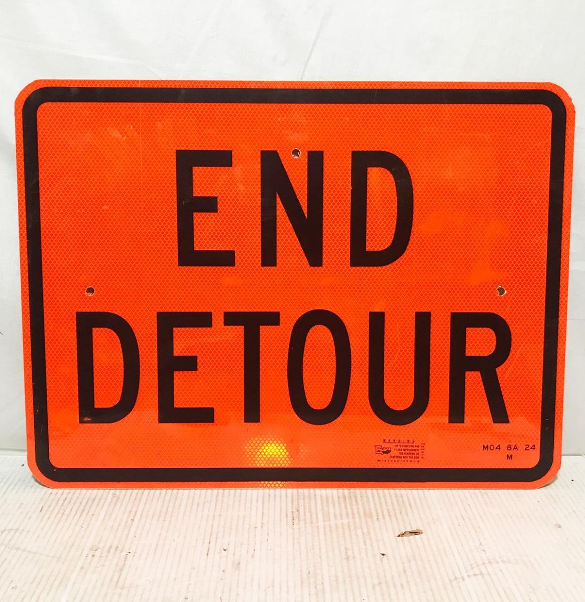 End Detour Origineel Straat Bord