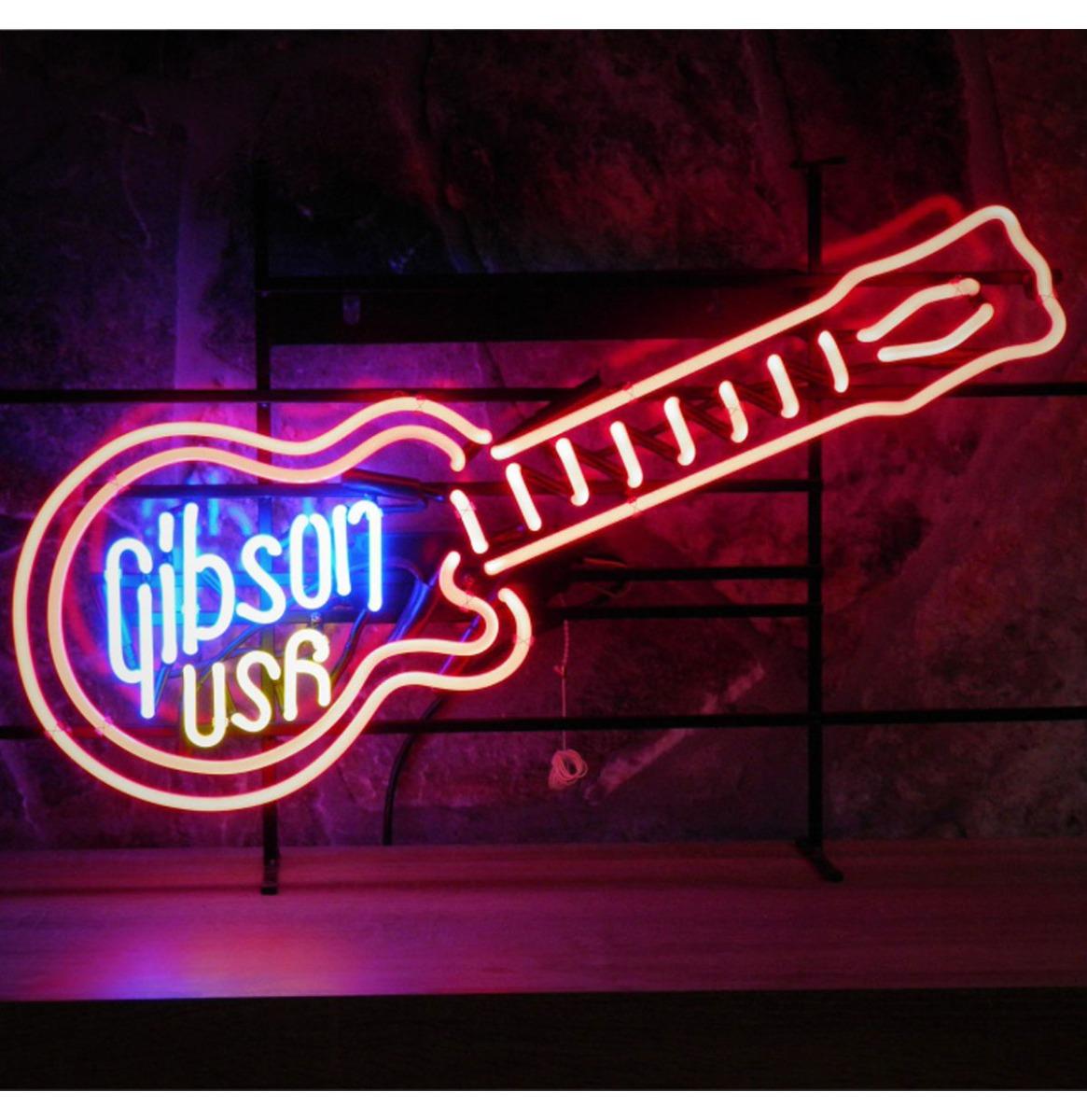Gibson USA Guitar Neon Verlichting - 80 x 50 cm