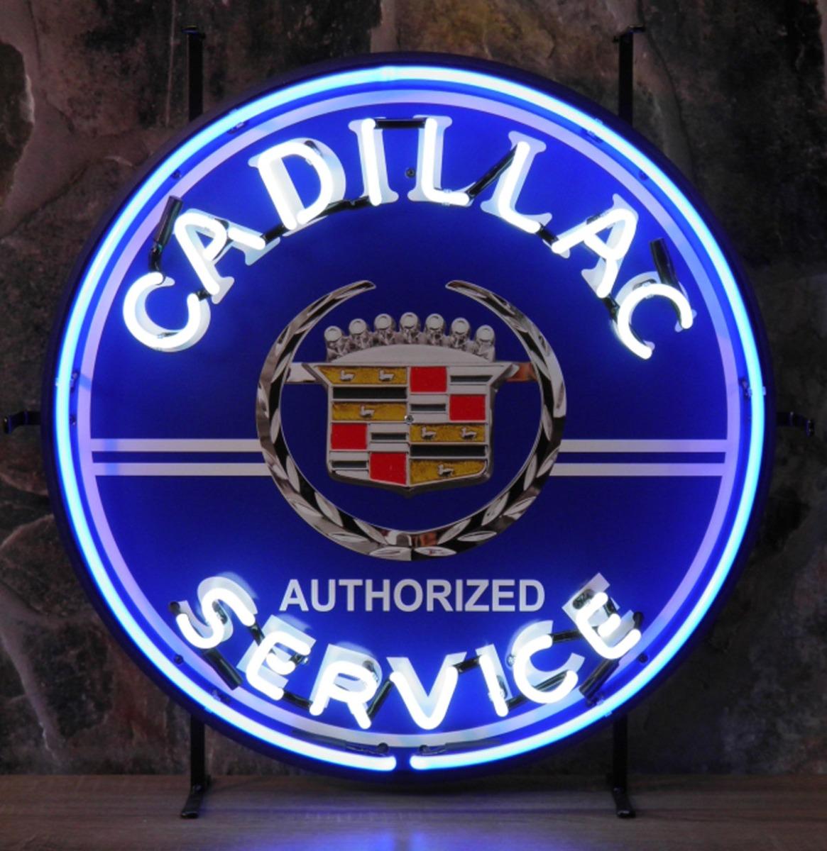 Cadillac Service Neon Verlichting 65 x 65 cm
