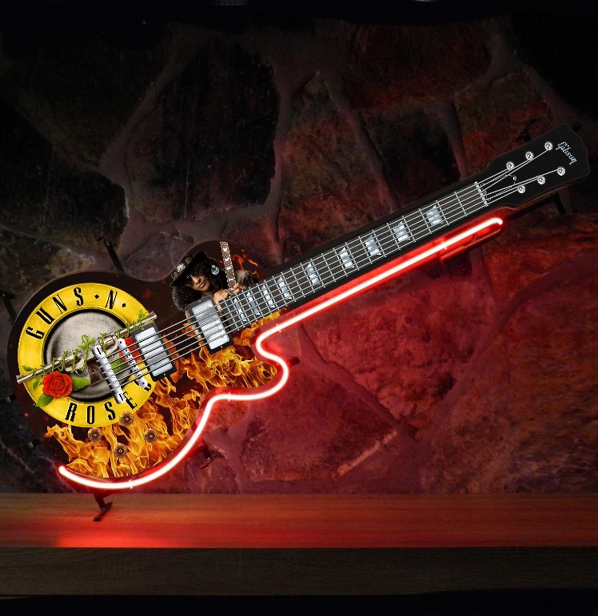 Guns 'N' Roses Gibson Gitaar Neon Verlichting 119 x 45 cm