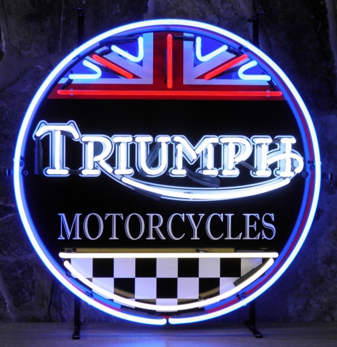 Triumph Motorcycles Neon Verlichting - 60 x 60 cm