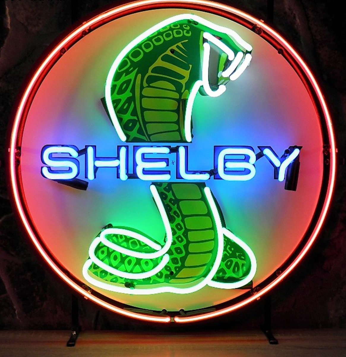 Shelby Neon Verlichting - Blauwe Shelby Letters - 65 x 65 cm