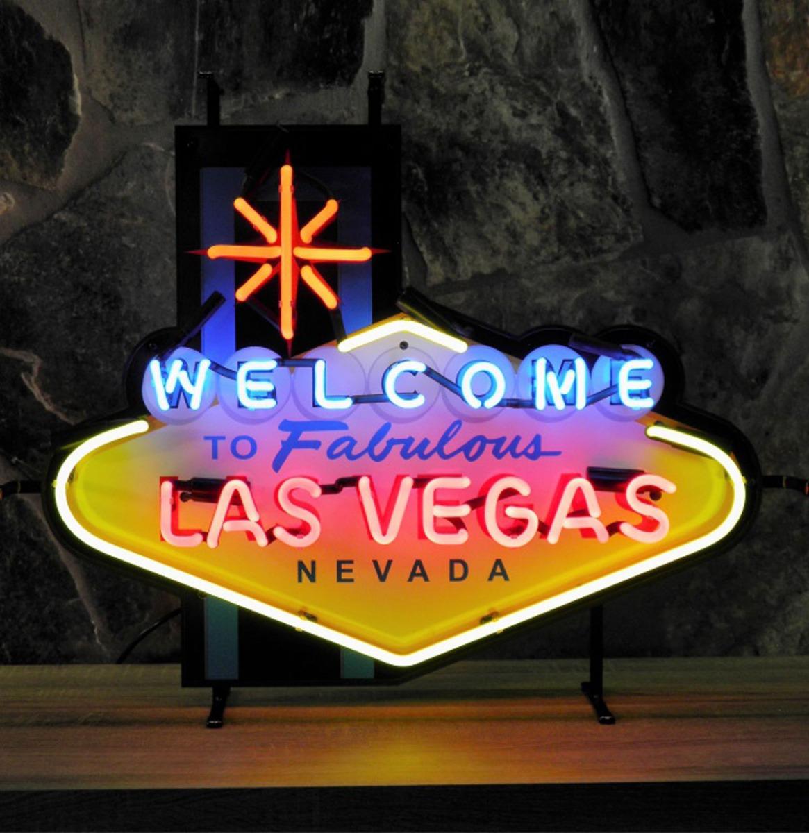 Las Vegas Nevada Neon Verlichting Met Bord 74 x 58 cm